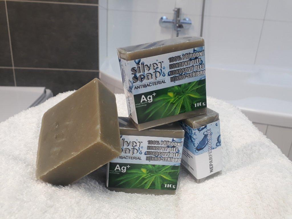 Antibakteriální přírodní mýdlo SILVER SOAP 110g s mikro stříbrem