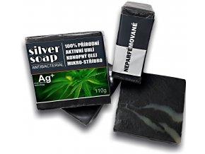 Přírodní mýdlo SILVER SOAP s mikrostříbrem a aktívním uhlím