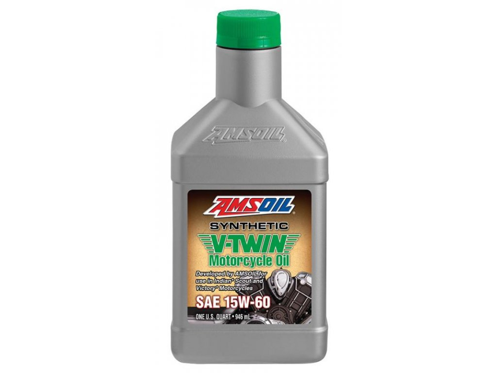 AMSOIL 15w60 Synthetic V-Twin Motorcycle Oil 1 Quart / 946 ml