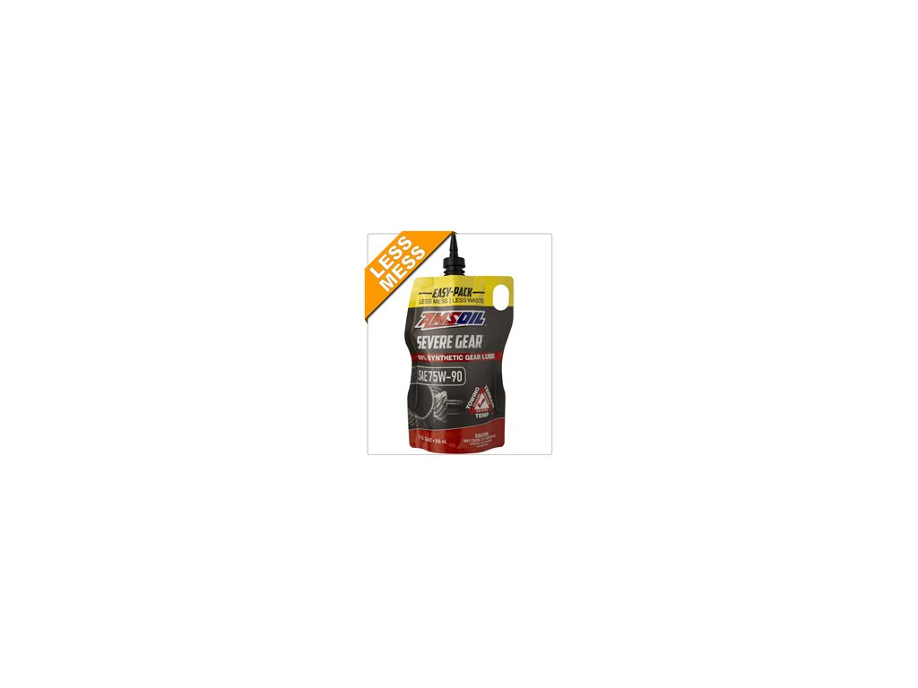 AMSOIL Severe Gear 75W-90 Synthetic Gear Lube 1 Quart / 946 ml Easy Pack