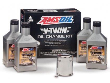 AMSOIL V-Twin Oil Change Kit