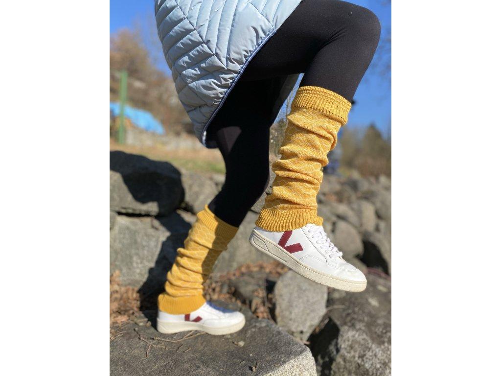 Návleky na nohy - Žlutá plástev s medem