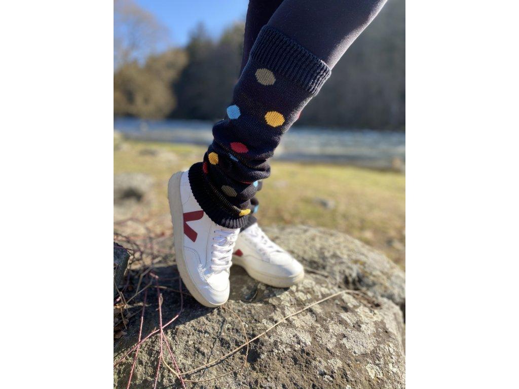 Návleky na nohy - Puntíkaté