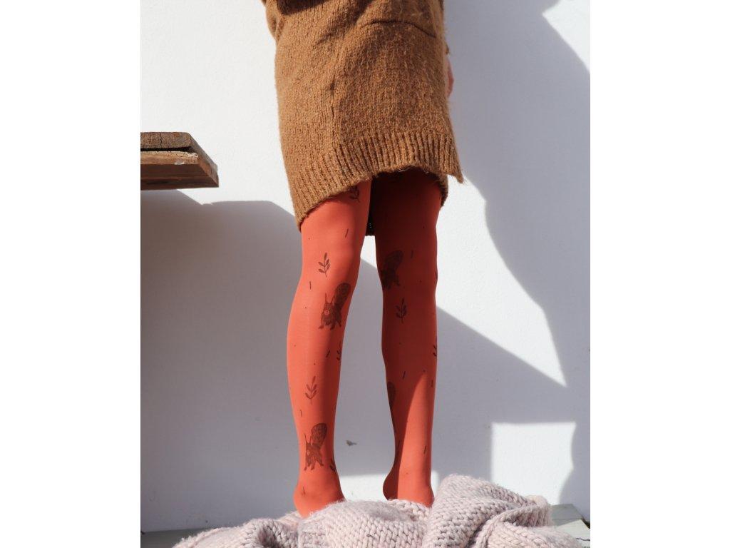 Barevné - ručně tištěné - Cihlové veverky