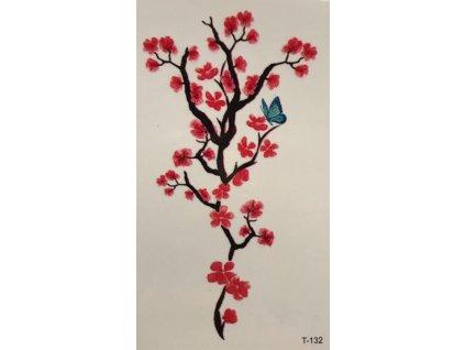 červený květ