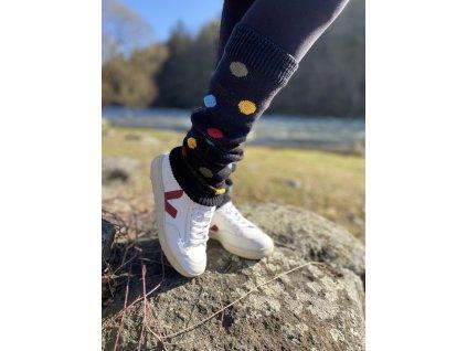Puntíkaté - Návleky na nohy