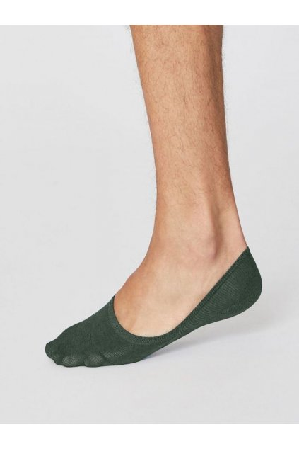 sbm4220 forest green no show essential bamboo socks in forest green 3