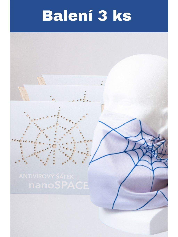 Výhodný set nano šátků nanoSPACE - 3 ks světle šedá  833 Kč / ks