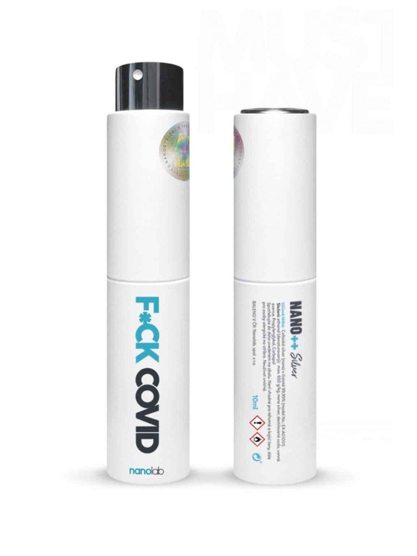 Cestovní dezinfekce: OMG série F*CK COVID (Varianta bílá)