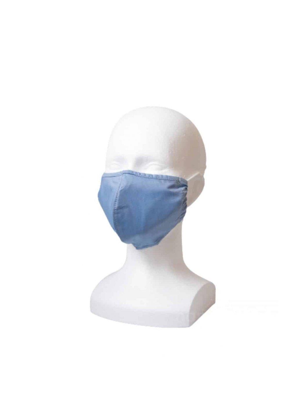 Rouška s kapsou YourFASHION SilverPlus | modrá |  1 rouška + 10 filtrů  gumičky + šňůrky