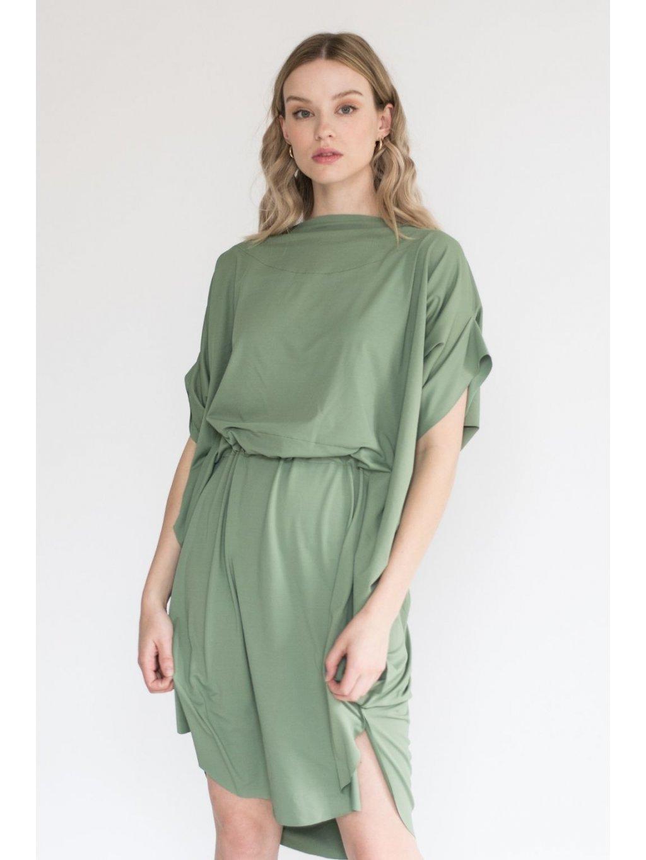 Khaki Designové šaty Elegant Eagle – nanoSPACE by Lada