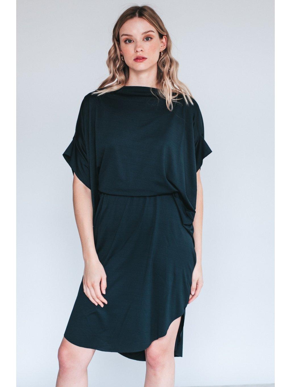 Černé Designové šaty Elegant Eagle – nanoSPACE by Lada