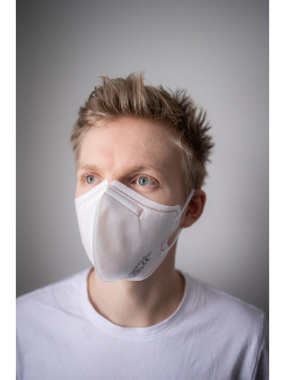 Nanovlákenný respirátor FFP2 BreaSAFE® bílý   5ks  45,8 Kč / ks