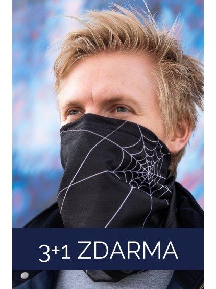 3+1 ZDARMA: Antivirový šátek nanoSPACE - černý  FFP2 dle dTestu