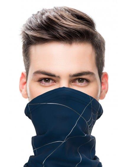 Antivirový šátek nanoSPACE - modrý  FFP2 dle dTestu