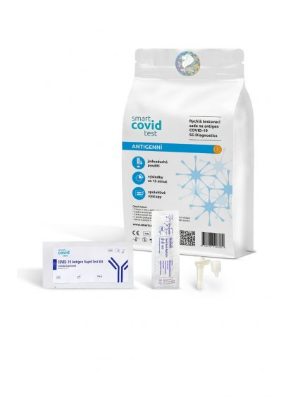 Antigenní rychlotest Smart Covid | 10 ks  SG Diagnostics COVID-19 Antigen Rapid Test Kit