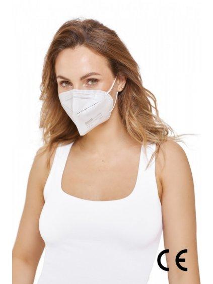 Nanovlákenný respirátor FFP2 Nano Med. Clean – bílý  46 kč / ks – letní respirátor
