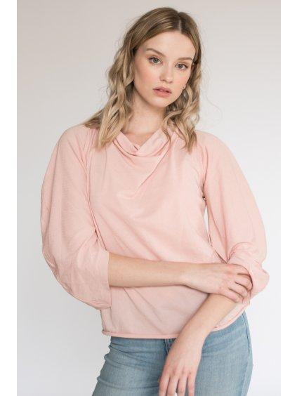 Růžové designové letní tričko SEN  - nanoSPACE by LADA