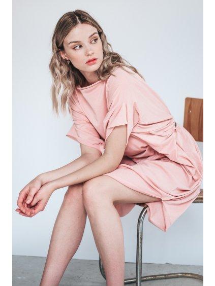 Růžové Designové šaty Summer Eagle – nanoSPACE by Lada