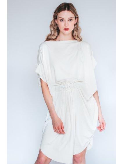 Bílé Designové šaty Elegant Eagle nanoSPACE by LADA