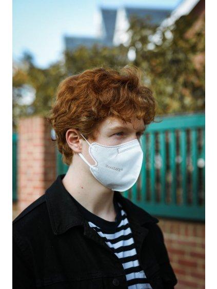 Nanovlákenný respirátor FFP2 BreaSAFE® bílý | 5ks (Barva Bílá, Velikost M)