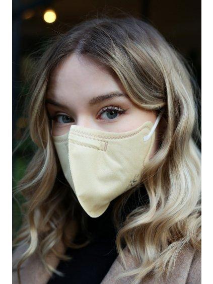 Nanovlákenný respirátor FFP2 BreaSAFE® béžový   5ks  od 39,8 Kč / ks