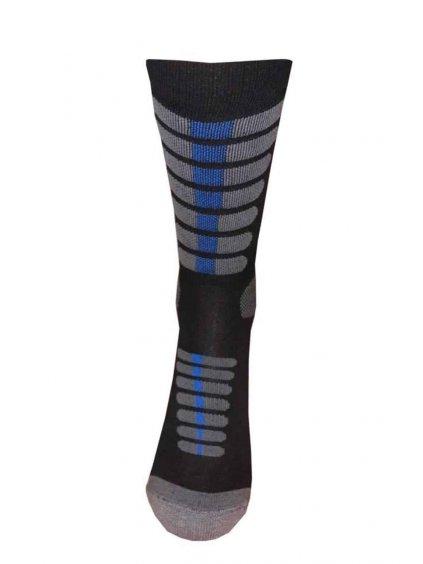 Speciální vysoké moto ponožky se stříbrem nanosilver (Velikost L 43/46)