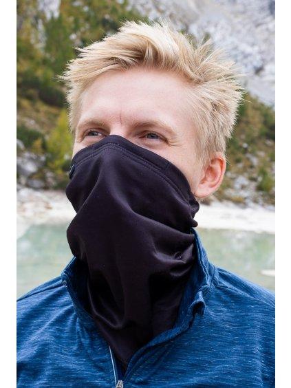 Antivirový šátek nanoSPACE - Black Edition  záchyt FFP2