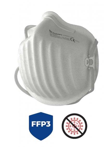 Nano respirátor BreaSAFE FFP3 3 ks  259 Kč / kus