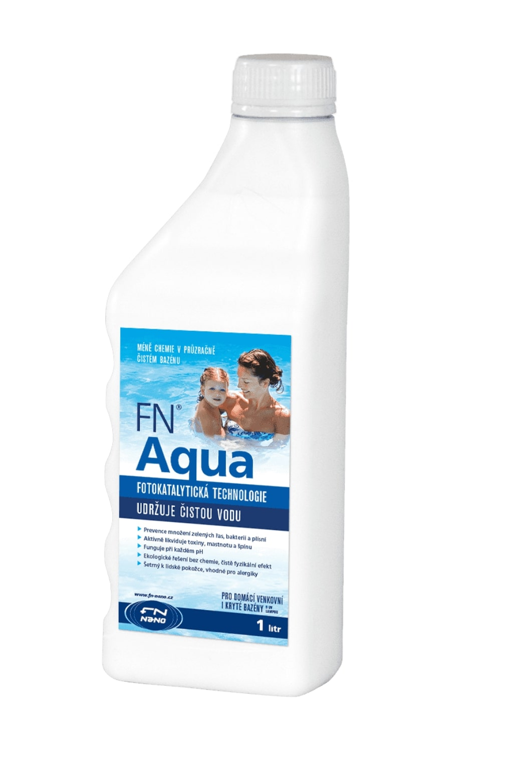 FN NANO Ekologický čistič bazénů FN® AQUA Objem: 1 litr