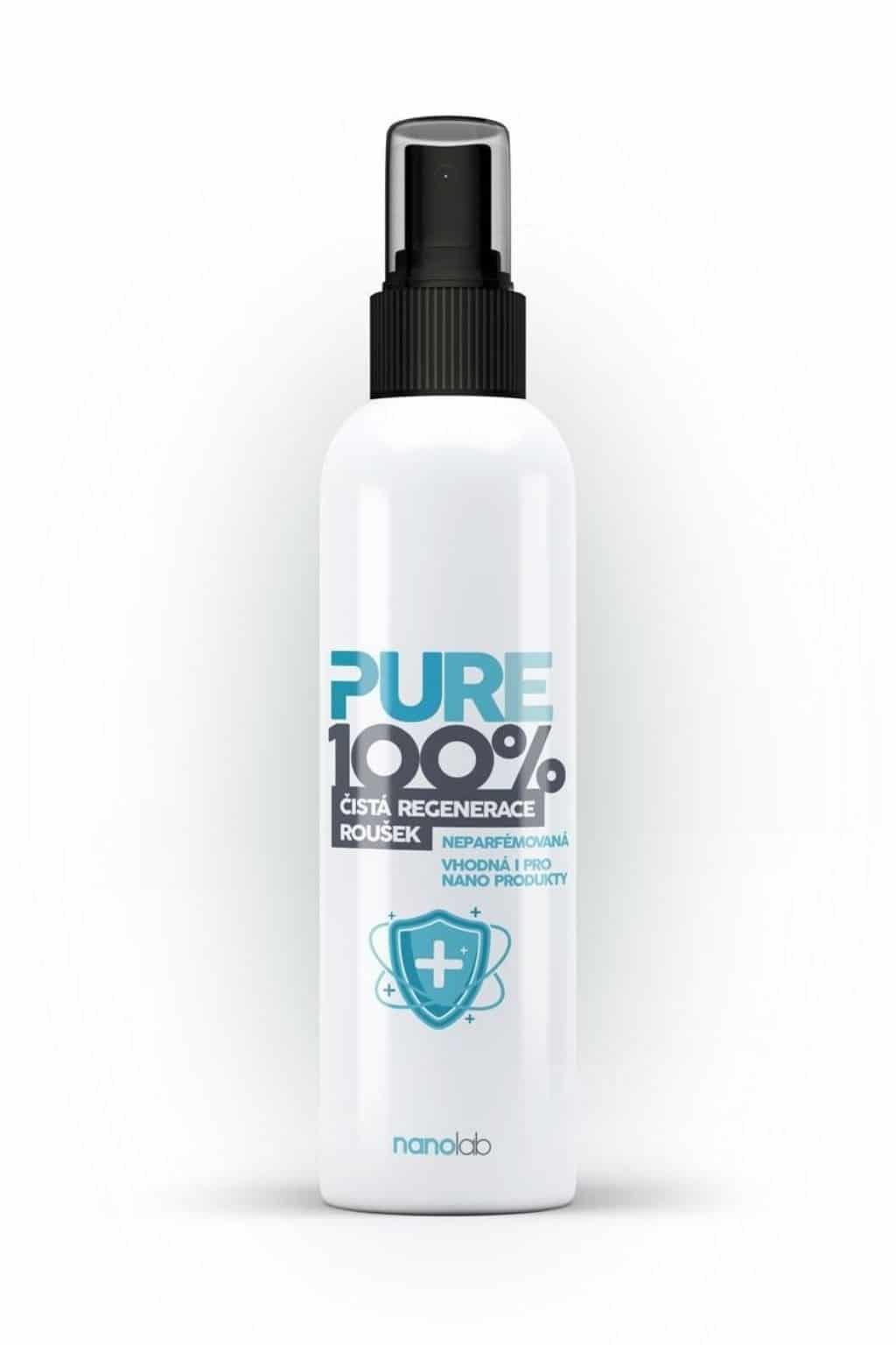 Levně Nanolab Pure 100%: Dezinfekce respirátorů a roušek SPREJ - ethanolová Velikost balení: 100 ml