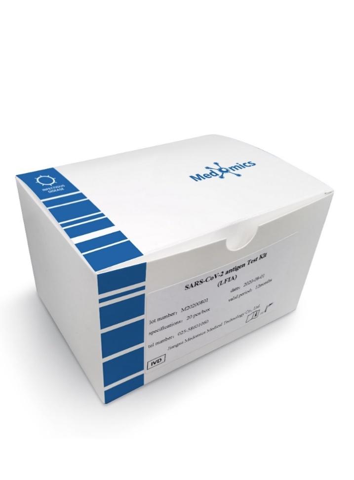 Antigenní test na koronavirus Medomics SARS-CoV-2 antigen Test Kit (LFIA) | 20 kusů spolehlivost 98,88 % 115 Kč / kus