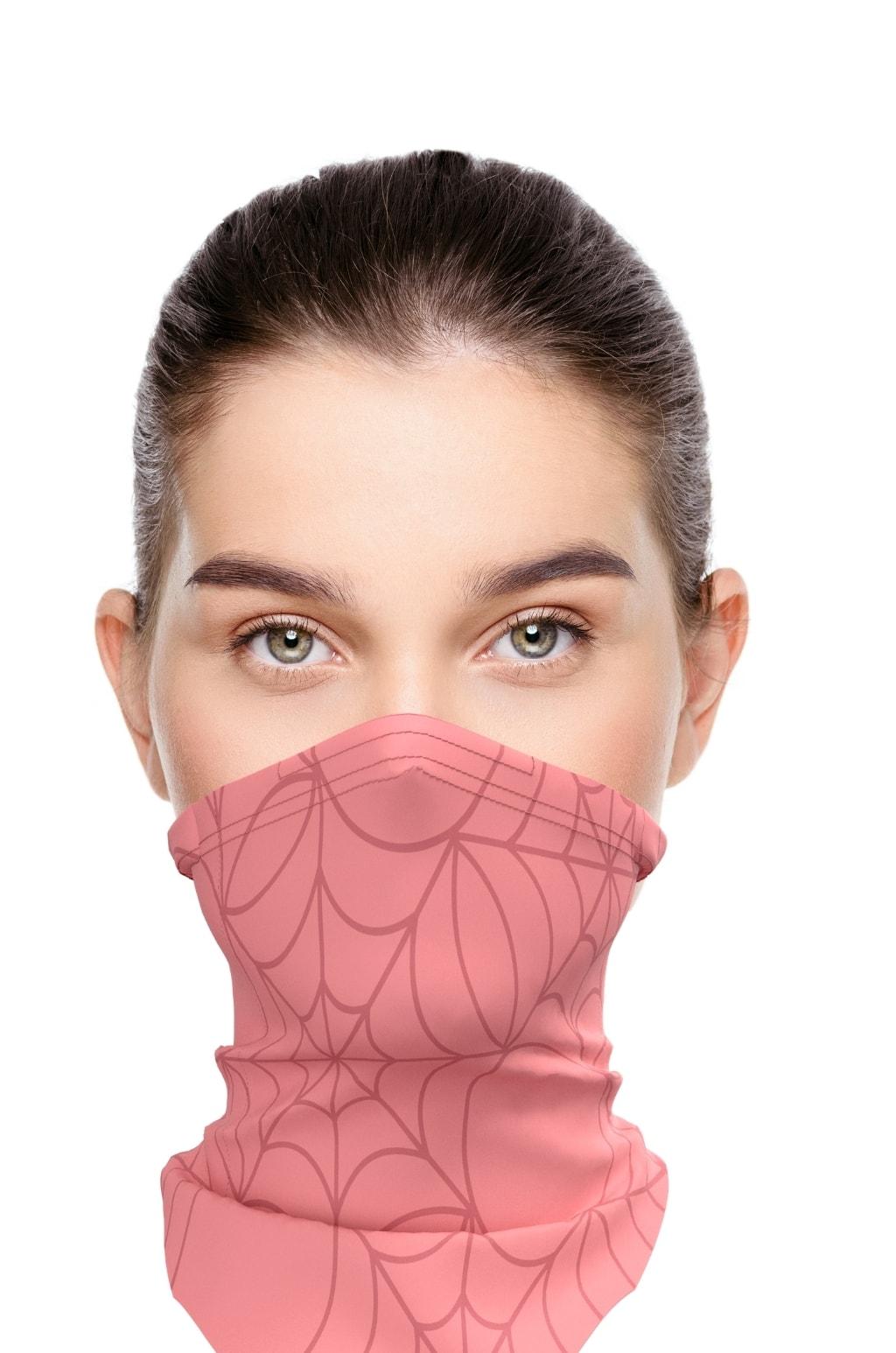 Letní antivirový šátek nanoSPACE - růžový záchyt FFP2, letní verze