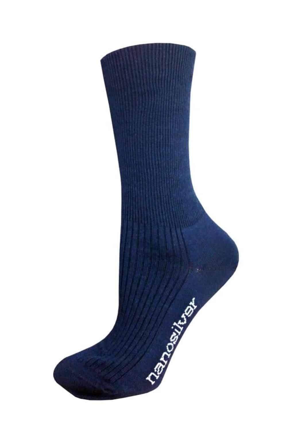Levně nanosilver Zdravotní ponožky modré Velikost: S 35/38