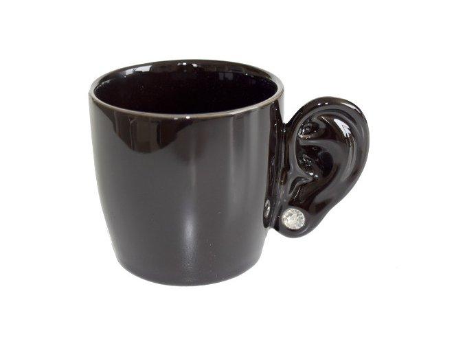 24266 hrnek s ouskem invotis ear cup cerny