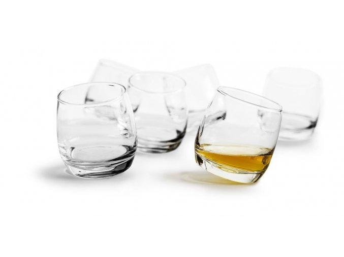 24341 houpaci sklenice sagaform rocking whiskey 6ks