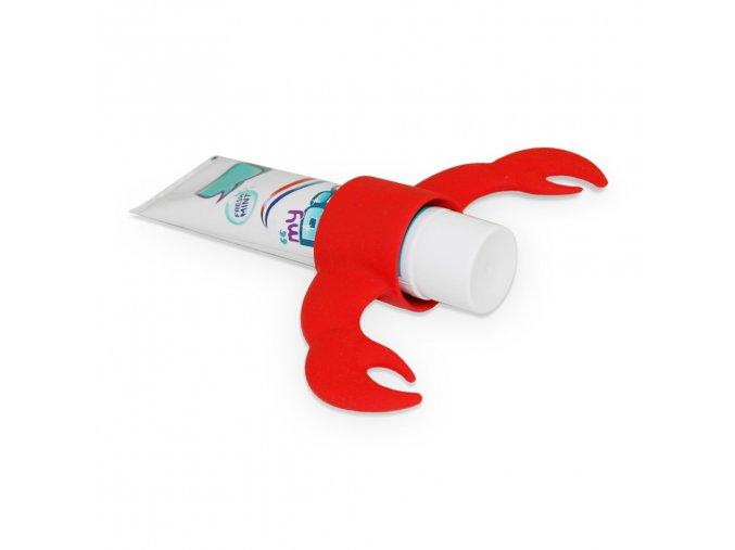 25025 4 stojanek na zubni pastu j me lobster cerveny