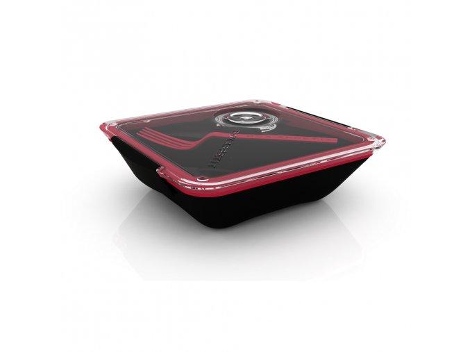 26897 lunch box black blum appetit 880ml cerveny cerny