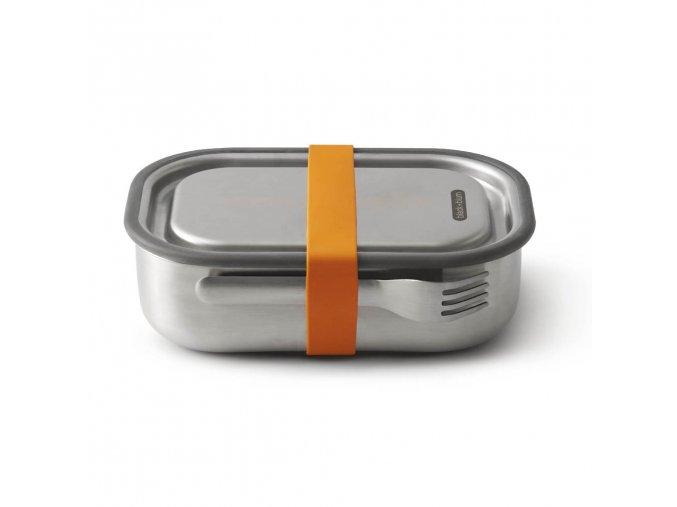 27077 nerezovy black blum steel lunch box large oranzovy