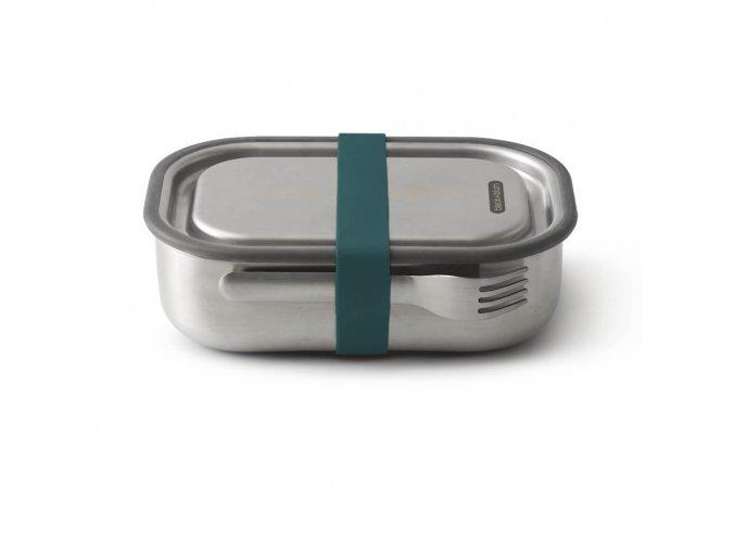 27080 nerezovy black blum steel lunch box large modry