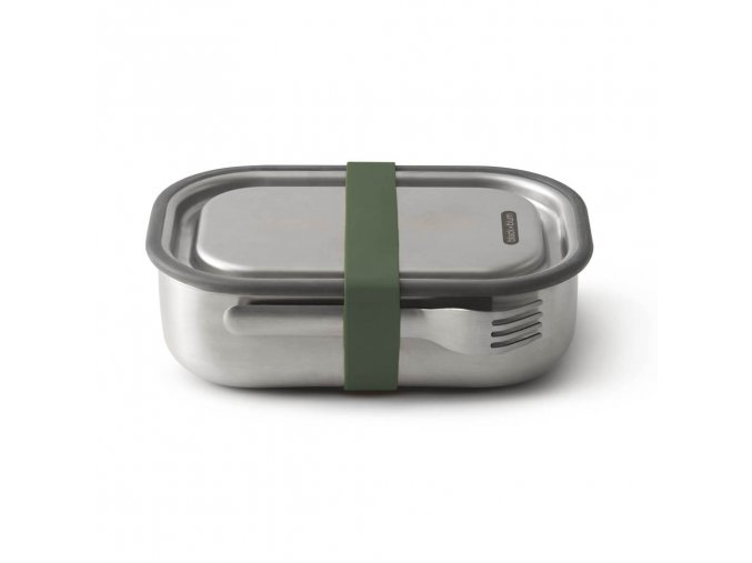 27083 nerezovy black blum steel lunch box large zeleny