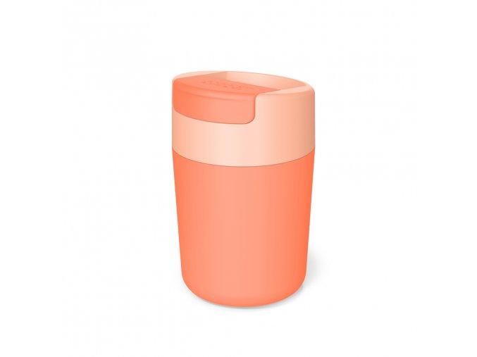 Cestovní hrnek s hygienickým uzávěrem JOSEPH JOSEPH Sipp Travel Mug 81123, 340ml, korálový