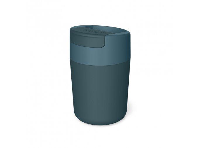 Cestovní hrnek s hygienickým uzávěrem JOSEPH JOSEPH Sipp Travel Mug 81124, 340ml, modrý
