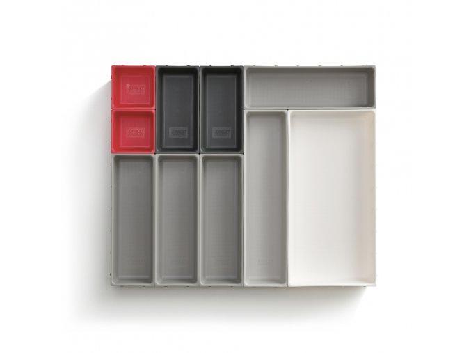 Variabilní organizér do zásuvky JOSEPH JOSEPH Duo Blox 10 85191, šedý/červený