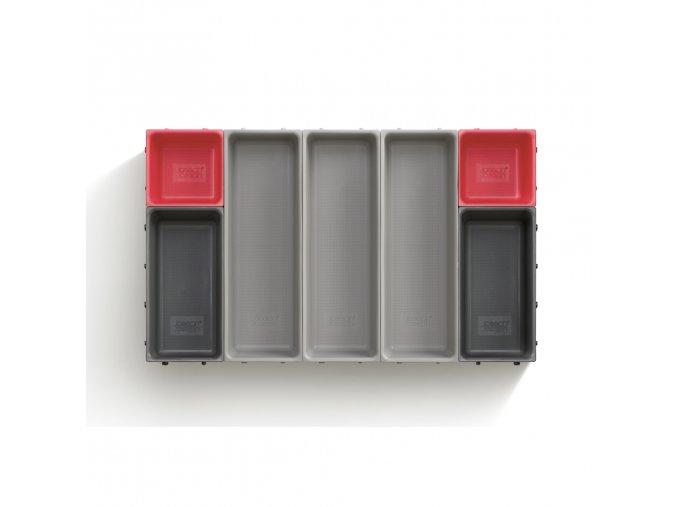 Variabilní organizér do zásuvky JOSEPH JOSEPH Duo Blox 7 85190, šedý/červený