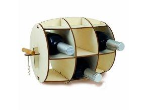 24215 stojan na vino s vyvrtkou invotis barrel