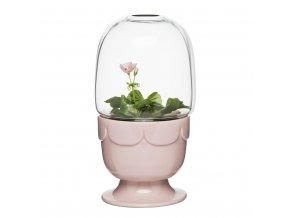 24410 1 kvetinac s poklopem sagaform greenhouse svetle ruzovy