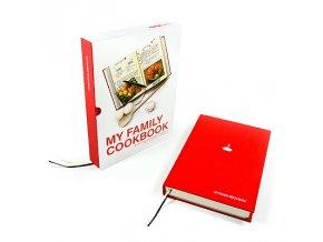 25436 kniha rodinnych receptu suck uk my family cookbook cervena