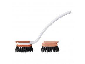 28571 stelton rig tig sink caddy dish brush kartac na nadobi oranzovy