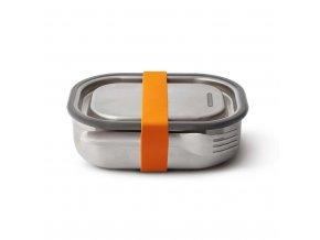 31247 nerezovy black blum steel lunch box 600ml oranzovy